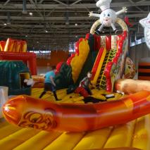 Previously used inflatable attraction