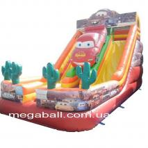 Inflatable hill - trampoline